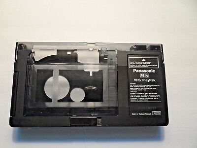 Panasonic PlayPak VHS-C to VHS Cassette Adapter Battery Operated VYMW0009 Tested