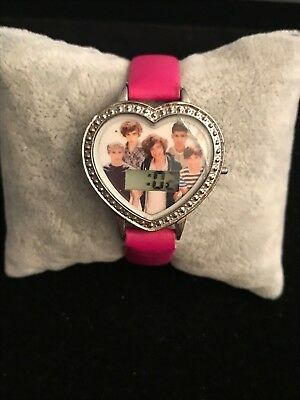 One Direction LCD Heart Watch Pink Strap New Battery