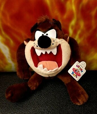 """1994  Looney Tunes Taz Plush  10"""" W/ Tags Excellent Condition ✔"""