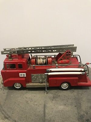 Tin  Toy Ford Vintage Firetruck