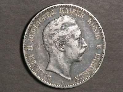 GERMANY-PRUSSIA 1907A 5 Mark Silver Crown VF