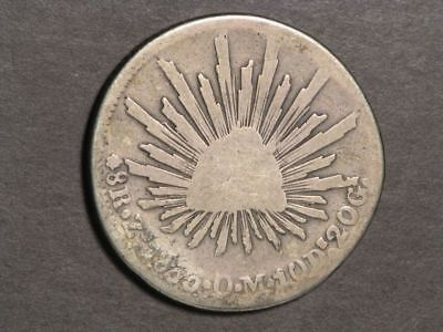 MEXICO 1833ZsOM 8 Reales Silver Crown