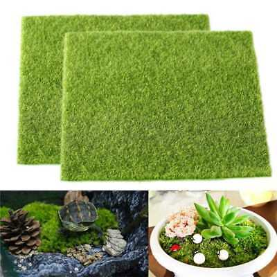 Artificial Grass Fake Lawn Simulation Miniature Garden Ornament Dollhouse ,15X15