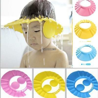 New Cute Safe Shampoo Shower Bathing Protect Soft Cap Hat for Baby hfor