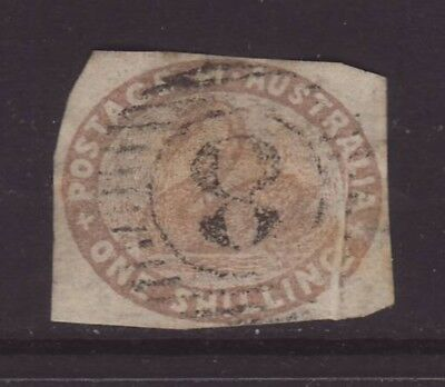 RARE WESTERN AUSTRALIA 1854-60 1/ Brown Oval with Variety used