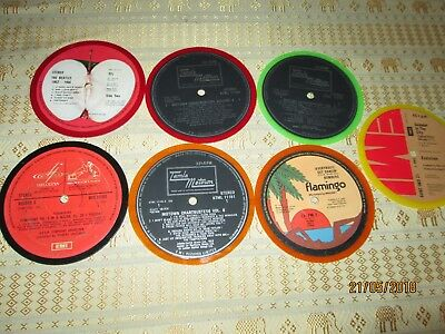 "S.T DISCS-5.5"" COLOURED x 7.BEATLES; TAMLA MOTOWN; FLAMINGO; EMI-EVOLUTION.VG"
