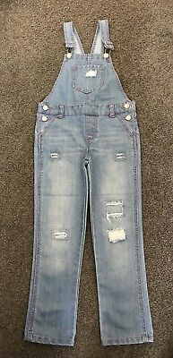 Girls denim overalls, size 6 as new