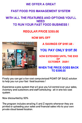 AUTOMATE YOUR FAST FOOD BUSINESS WITH TOUCH POS SYSTEM  50% off!
