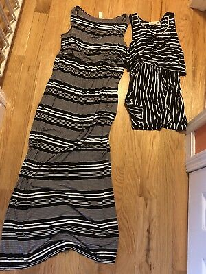 Old Navy Maternity Discreet Nursing Top & dress large medium L M breastfeeding
