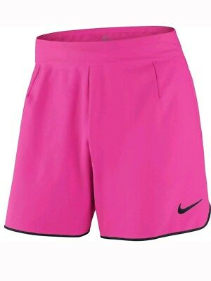 NIKE Flex Mens Pink Dri-Fit Tennis Shorts. Size:Small BNWT