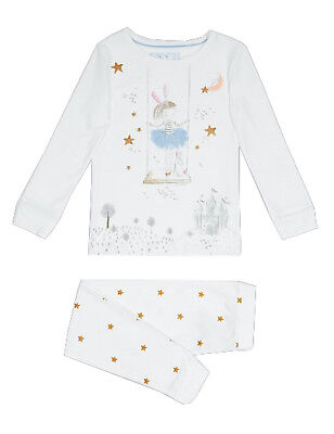 Ex Famous Stores Fairy Long Sleeve Pyjamas With Tutu Gift Pjs M&5 M S