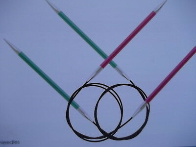 Knit Pro Zing circular knitting needles 2mm to 12mm and 40cm to 150cm  lengths
