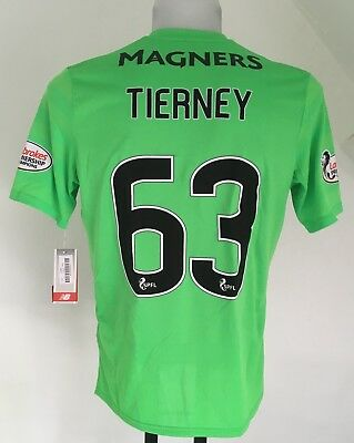 Celtic 2017/18 S/s 3Rd Shirt Tierney 63 By New Balance Size Adults Xl New