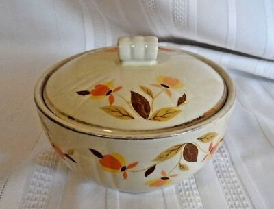 "Vintage Hall Autumn Leaf Jewel Tea Stove Top Drip Jar with lid 4"" x 5"""