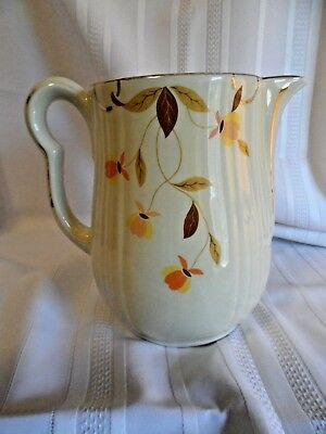 Vintage HALL Jewel Tea Autumn Leaf Pitcher 8 cup Coffee Pot Mary Dunbar no lid
