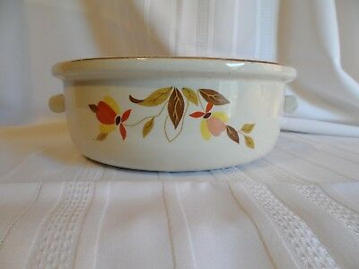 Hall's Superior China Jewel Tea Autumn Leaf Casserole Dish 2 Handled Bowl No Lid