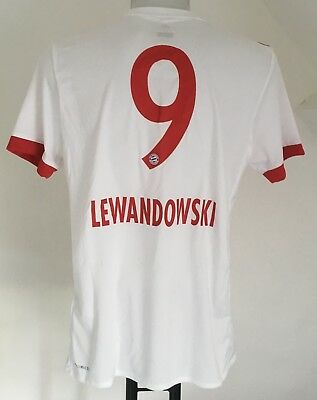 Bayern Munich 2017/18 S/s 3Rd Shirt Lewandowski 9 By Adidas Size Adults Medium