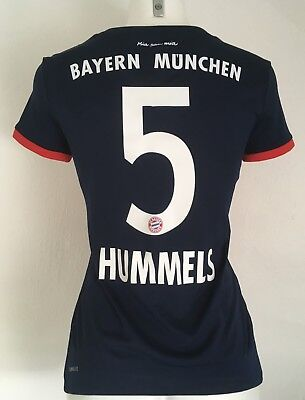 Bayern Munich 2017/18 S/s Away Shirt Hummels 5  By Adidas Size Ladies Small New