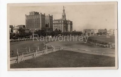 SHANGHAI HORSE RACING RACECOURSE CHINESE CHINA REAL PHOTO POSTCARD  c1930