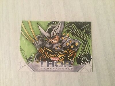 Upper Deck Thor The Dark World Sketch Card (1 Of 1)