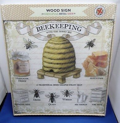 Wooden National Wbc Bee Hive Apiary Honey Drone Worker Queen Plaque Sign