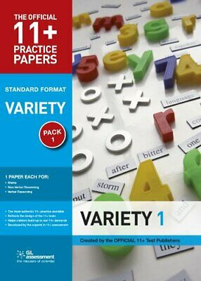 11+ Practice Papers Standard Variety Pack 1 (The O... by GL Assessment Paperback