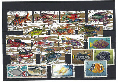 Briefmarken  - Lot - Motiv - Fische (9)