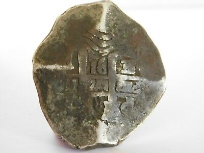 b/ ANTIQUE SOLID SILVER SPANISH / MEXICAN COB / REALE COIN PIECE OF EIGHT