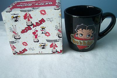 "2008 Betty Boop 2 1/2"" high"" Born to be Bad""  Mini Mug New In Package Vandor"