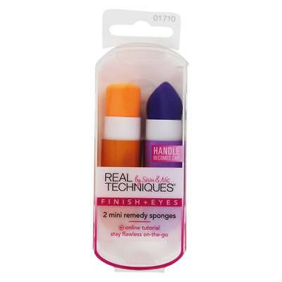 Real Techniques - 2 Mini Remedy Sponges for Makeup Finish + Eyes