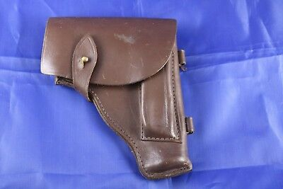 Original German Mauser 1914 Brown Leather Holster Used By Finns