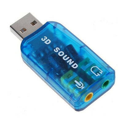 USB 5.1 Stereo Sound Card Adaptor (Windows 7 Compatible) T3O6