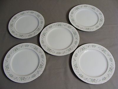 5 Carlton Dinner Plates, #481 Corsage Pattern, Made In Japan