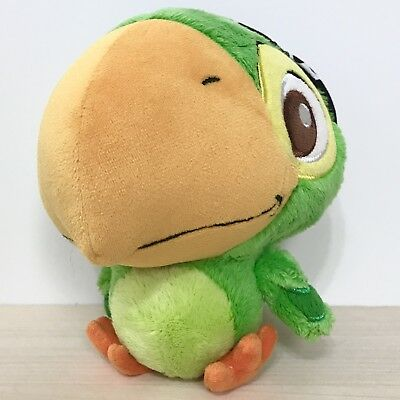 """Disney Parks Jake And The Never Land Pirates Skully Parrot Green Plush 6"""""""