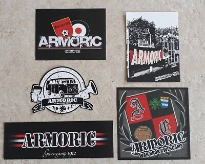 Lot 5 stickers autocollants ultras Guingamp France