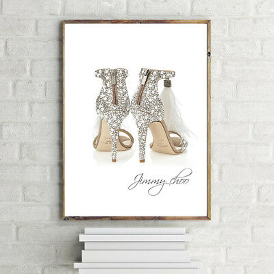 CHOO Ostrich Feather SHOES PRINT A4 POSTER PRINT WALL ART  HANGING 280GSM