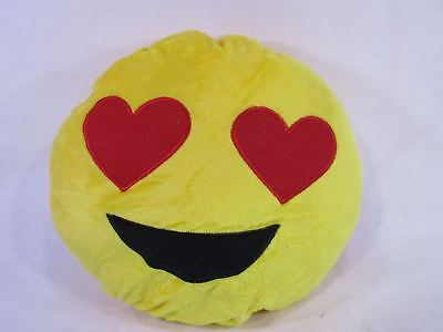 "32cm 12"" Emoji Smiley Emoticon Yellow Round Cushion Stuffed Plush Soft Pillow"