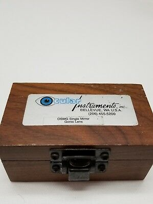 Ocular Instruments Inc. Osmga Single Mirror Gonio Lens optometry opthalmology