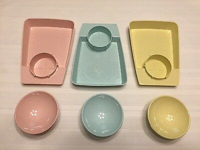 Vintage and Retro Little Jack Horner Chip Dip Sets Lot Of 3 1950's.