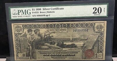 1896 $1 United States One Silver Dollar Note PMG 20