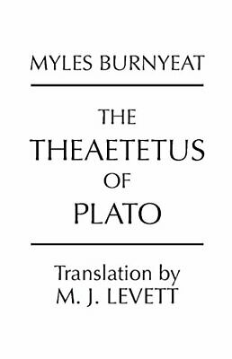 The Theaetetus of Plato by Burnyeat, Myles Paperback Book The Fast Free Shipping