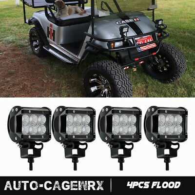 4X 18W CREE LED Pod Lights FLOOD Beam Driving Work Fog Light 3in Cube 12V24V 24