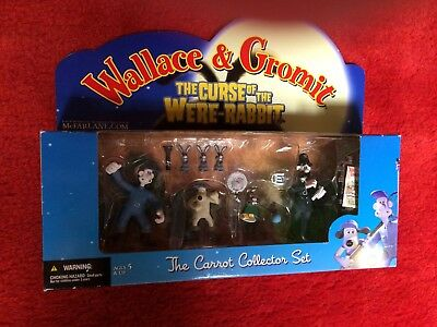 Wallace & Gromit Curse Of The Were-Rabbit Carrot Collector Set McFarlane 2005