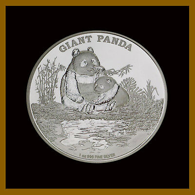 Niue 2 Dollars Silver Proof Coin, 1 Oz 2016 Giant Panda, Endangered Species.