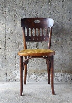 Chaise Bistrot  Kohn aux points d'exclamation !!!!!  cannage neuf. (No Thonet)