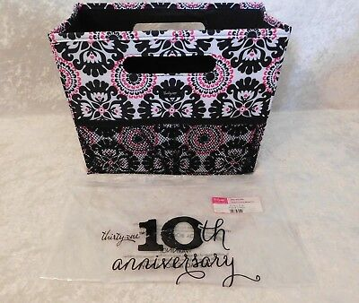 Thirty One Fold N File Pink Pop Medallion Easy Transport Collapses Eco Nip 31