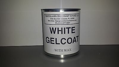 Gel Coat  White With  Wax  One Quart  With Hardener