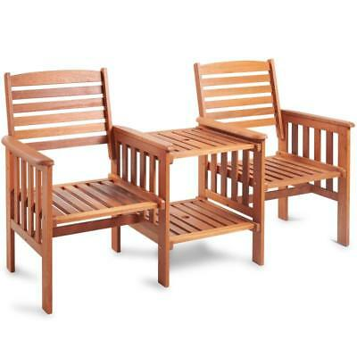 Incredible Wooden Garden Love 2 Seat Bench Furniture Chair Patio Duo Short Links Chair Design For Home Short Linksinfo