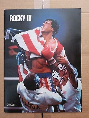 Hand Signed VINTAGE Original Rocky IV Press Book signed by Sylvester Stallone