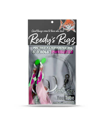 10 Snapper Rigs 6/0 Pink Flasher Rig W.A Winter Reds  Paternoster Rigz